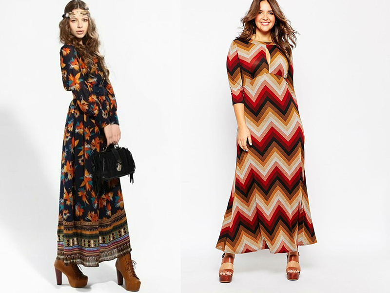 cc0fea4c30afe47 Трикотажное теплое платье в стиле 70-х - это прекрасный выбор для стильных  девушек. Дополнить платье можно шейным платком или палантином.